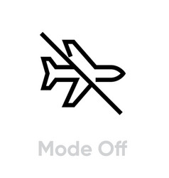 airplane mode off icon editable line vector image