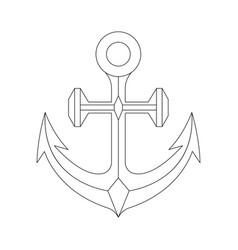 Anchor outline icon vector