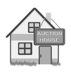 Auction house for sale e-commerce single icon in vector