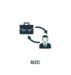 B2c icon symbol creative sign from business vector