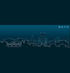 Bath multiple lines skyline and landmarks vector