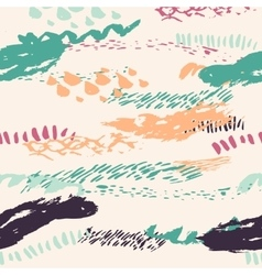 boho seamless pattern with bold lines in vector image