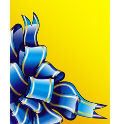 Bow blue vector