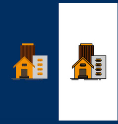 building estate real apartment office icons flat vector image