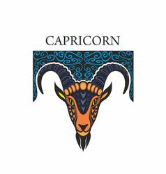 capricorn horoscope zodiac sign vector image