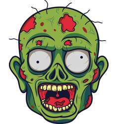 cartoon zombie head vector image