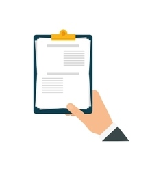 Check list document paper hand icon vector