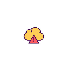 cloud computing icon design essential icon design vector image
