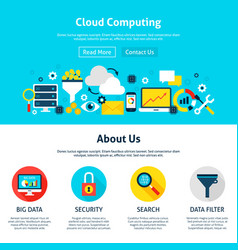 cloud computing web design vector image