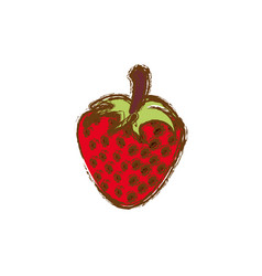 color strawberry fruit icon stock vector image