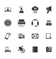 communication icons set vector image