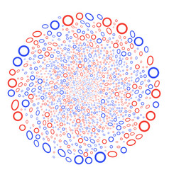Contour ellipse centrifugal burst vector