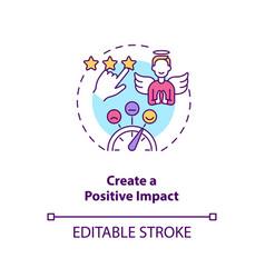 Create positive impact concept icon vector