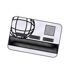 credit card bank money plastic digital vector image