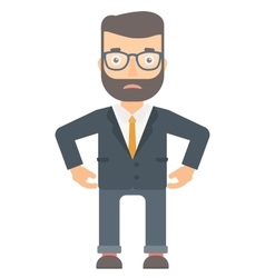 Depressed caucasian businessman vector