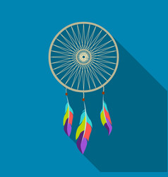 Dreamcatcher icon flate singe western icon from vector