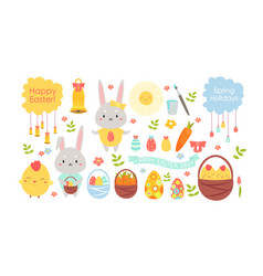 easter color cartoon flat vector image