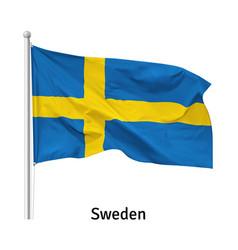 Flag kingdom sweden vector