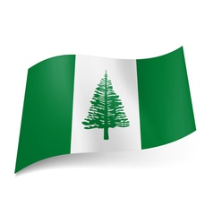 Flag of Norfolk Island vector