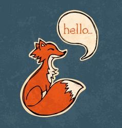 Fox drawing vector