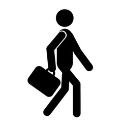 Going businessman icon vector