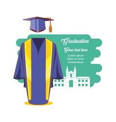 graduation card with suit uniform vector image