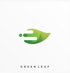 green leaf design template vector image