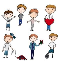 happy kids little boys vector image
