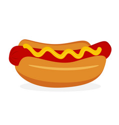 hot dog icon fastfood isolated sweet food and vector image