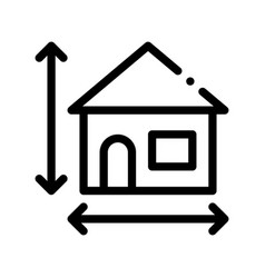 House size height and width thin line icon vector