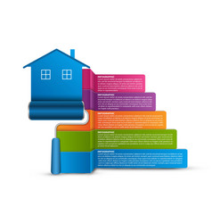 infographic on construction topics home repair vector image