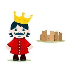 kid king vector image