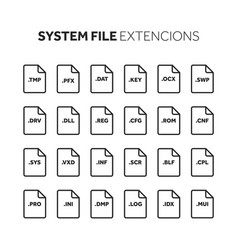 lineoutline flat style icon set source code vector image