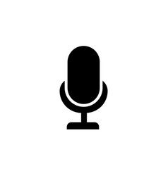 llustration mic sign karaoke microphone icon vector image