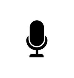 llustration mic sign karaoke microphone icon vector image