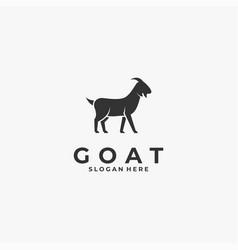 Logo goat silhouette style vector