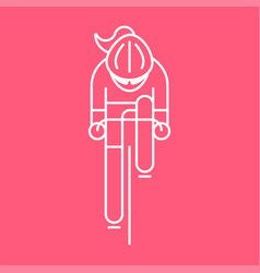 Modern of woman cyclist vector