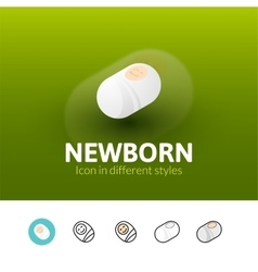 Newborn icon in different style vector image