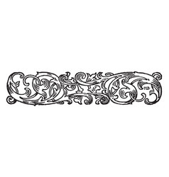 ornate banner have pattern whose elements are vector image