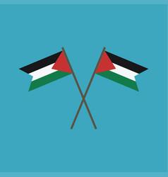 palestine flag icon in flat design vector image
