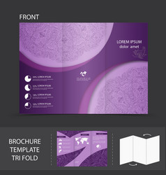 Purple brochure template vector image