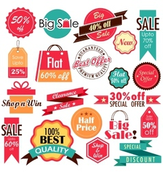 Sale and Discount tags vector image