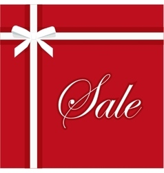 Sale red banner elegant gift vector