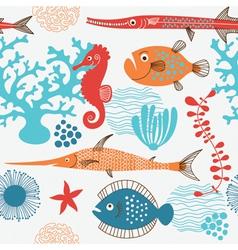 Sea fauna vector