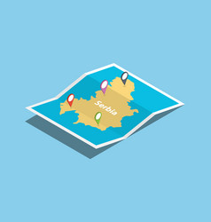 serbia explore maps country nation with isometric vector image