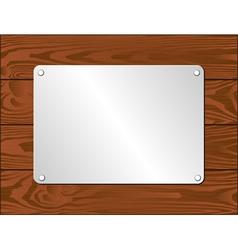 Silver plaque vector