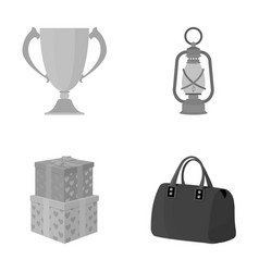 sport history leisure and other monochrome icon vector image