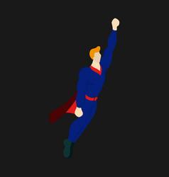 Superhero cartoon icon with superman on vector