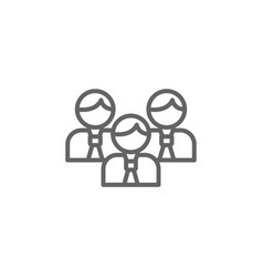 Team men outline icon elements business line vector