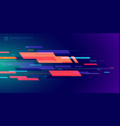 template banner abstract technology futuristic vector image